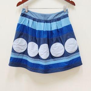 Boden| Blue Striped Skirt Flare Pockets Size 6R